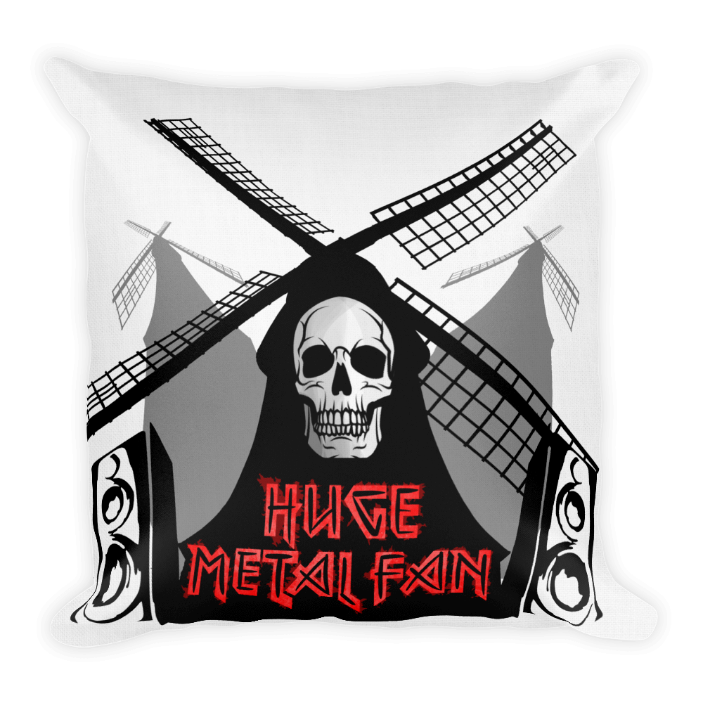 Metal Fan Throw Pillow - punmug - more than just mugs