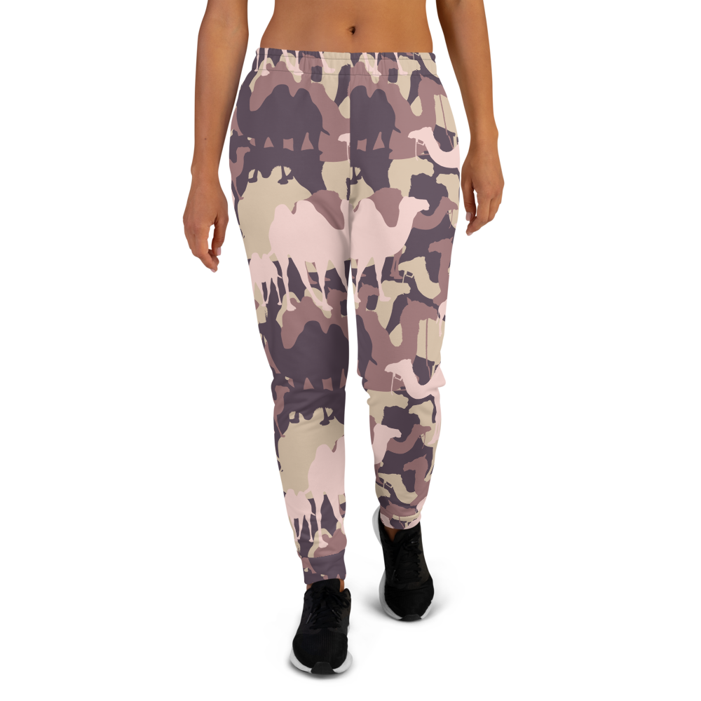Women's Pink Camelflage Joggers