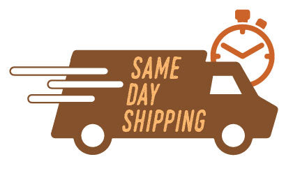 Same day delivery on orders before 10am PST.