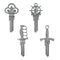Key Shapes 4 Pack: Forged