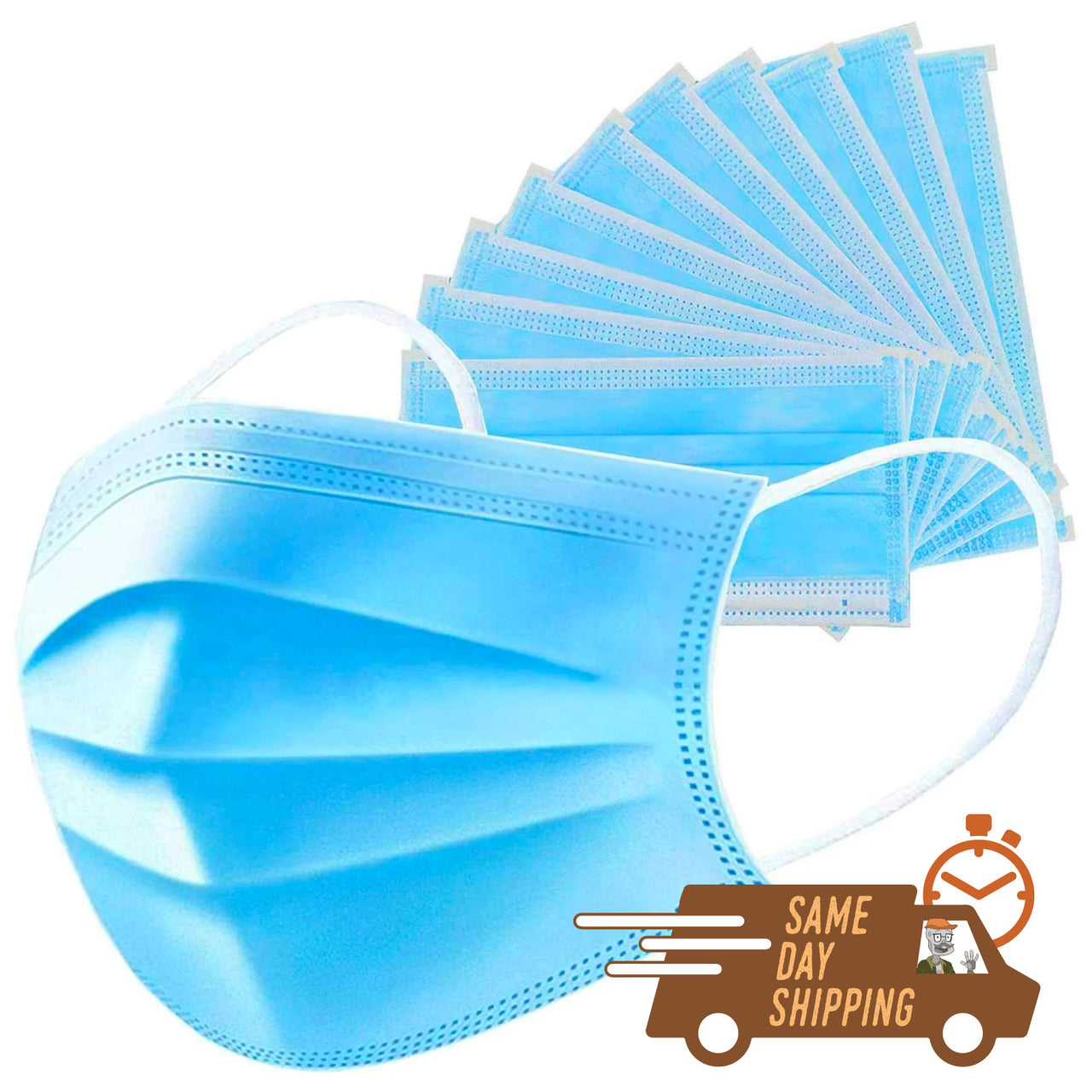 Disposable Face Guard 3 Ply Non-Woven Fabric - 20 or 40 Pack