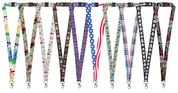Designer Lanyards - 10 Pack