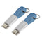 lightning cable and micro usc charging cable key chain 2 pack