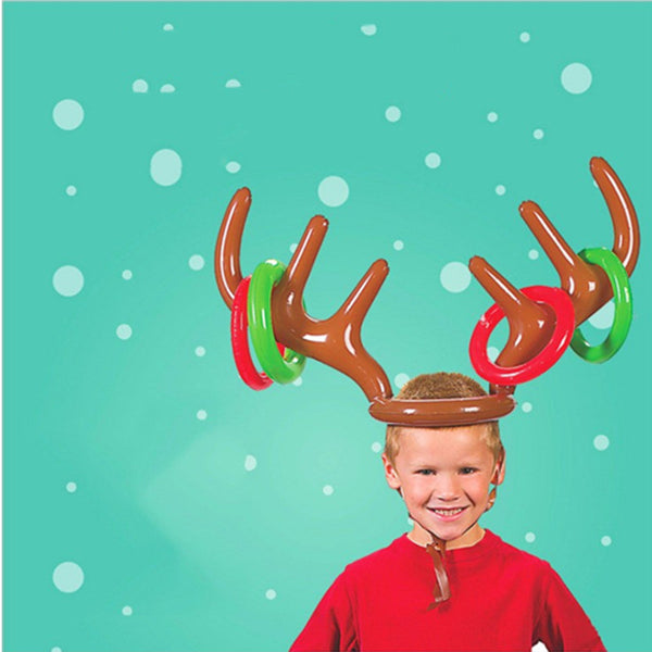 Inflatable Reindeer Christmas Ring Toss