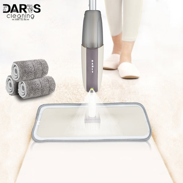 Spray Floor Mop with Reusable Microfiber Pads