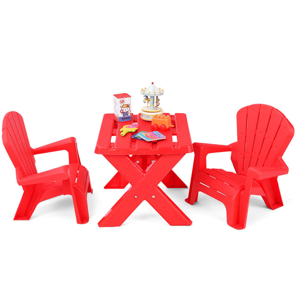 Plastic Outdoor Kids Table & Chair Set