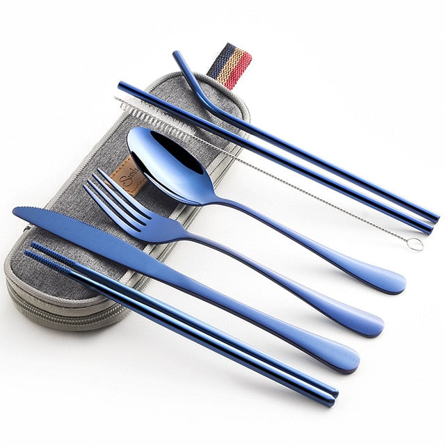 Stainless Steel Travel Dinnerware Set