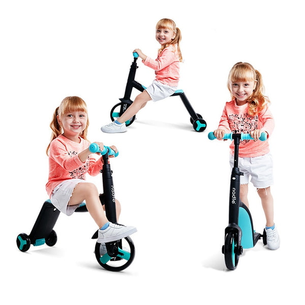 3-in-1 Kids Scooter, Tricycle, & Balance Bike