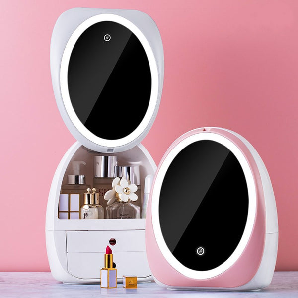 HD Mirror Makeup Storage Organizer