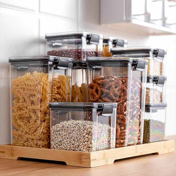 Stackable Acrylic Food Containers for Pantry Storage & Organization