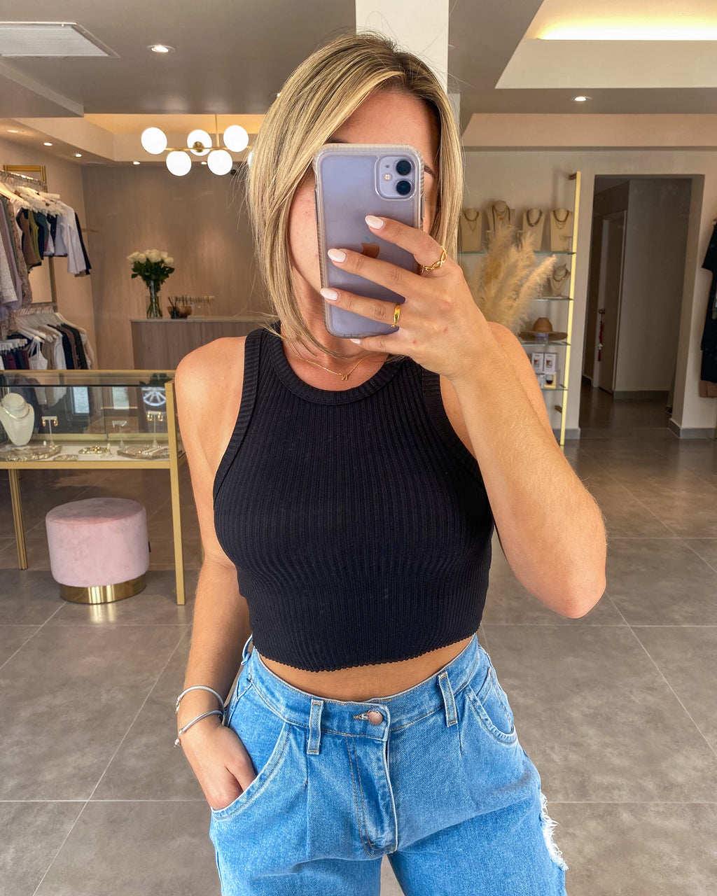 CASSIA RIBBED CROP TOP