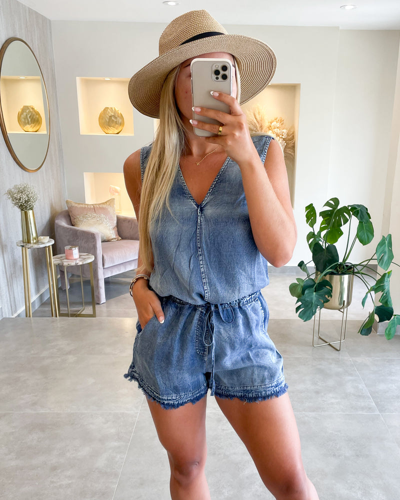 DOLCE DENIM ROMPER