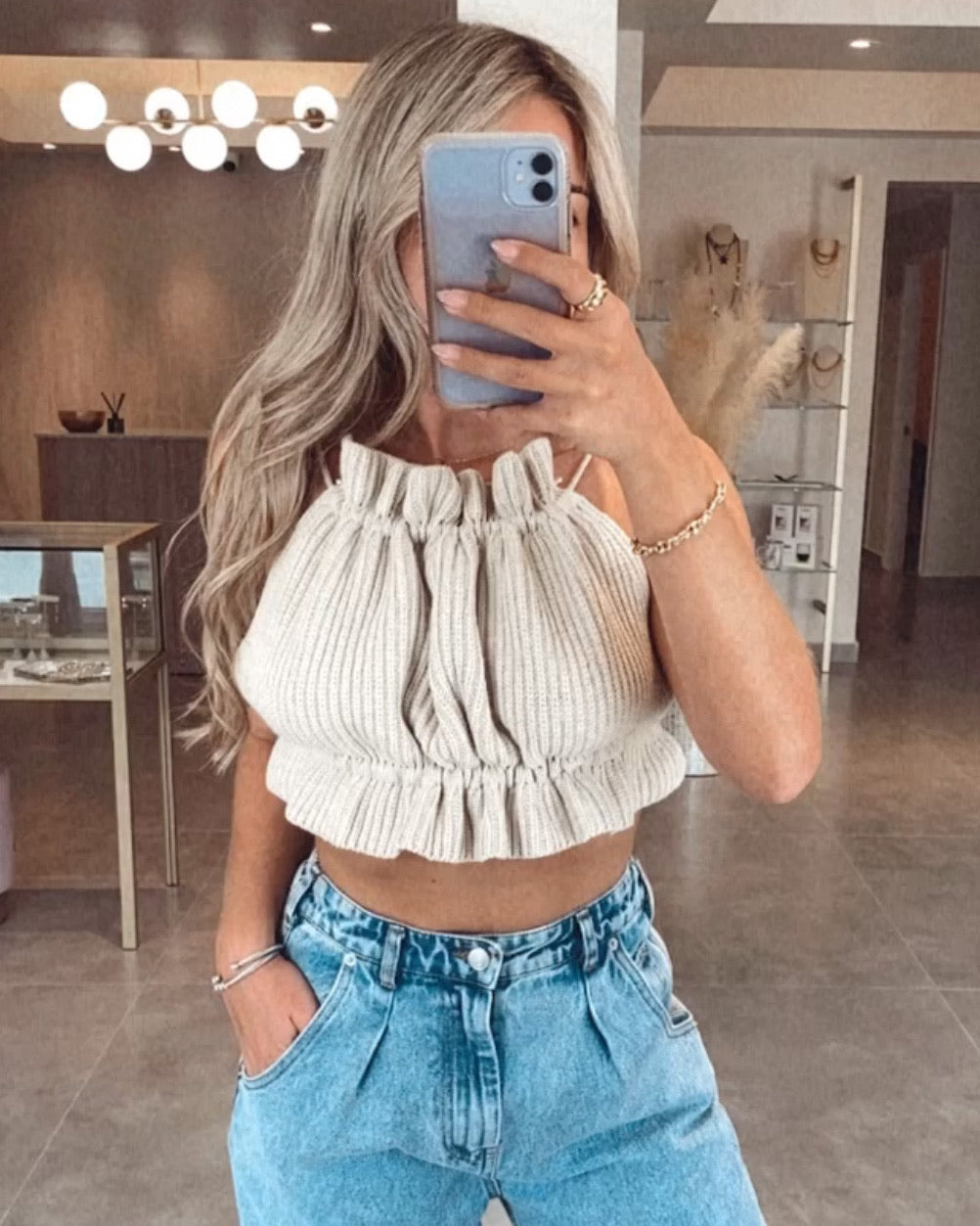 CANDY KNIT TOP