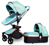 Baby Stroller in high quality leather