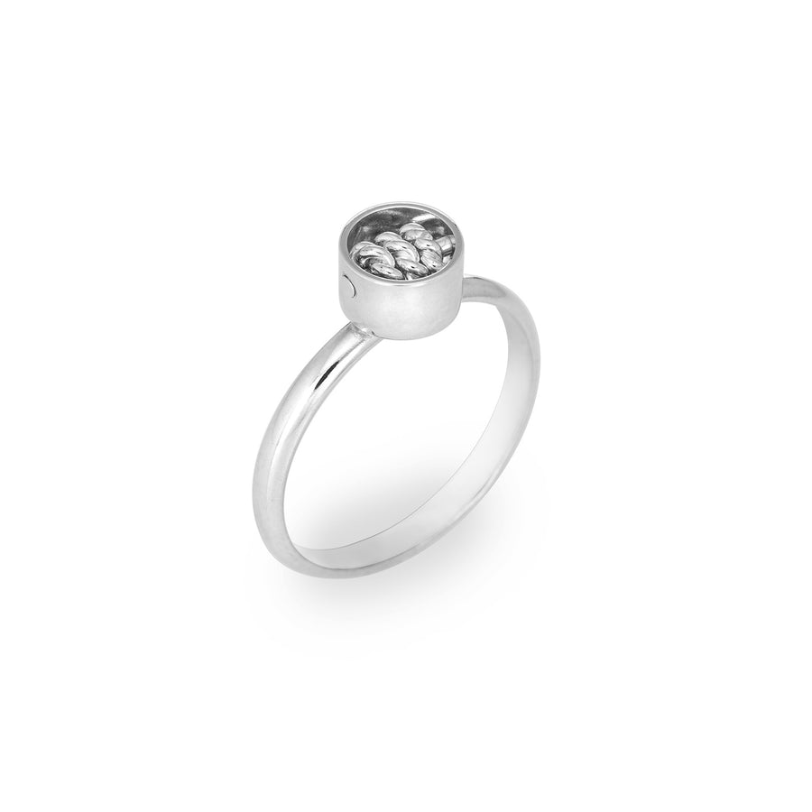 SPINNER: Contemporary Tube Ring Sterling Silver