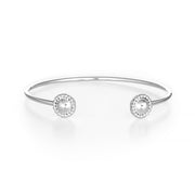 Reflections: Sterling Silver Mirror Finish Dome Cuff Bracelet Modern