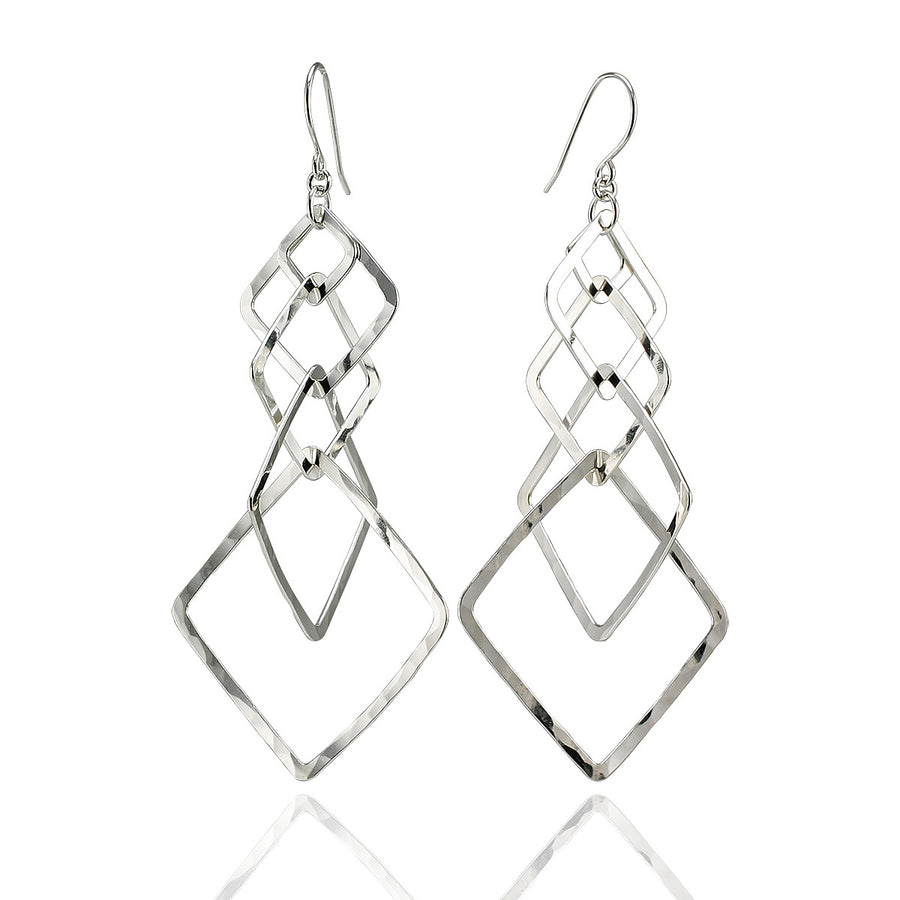 Modern Design Multi-Hoop Square Earrings