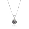 U-Tube Black Tourmaline Quartz Necklace Sterling Silver, Sliding Necklace