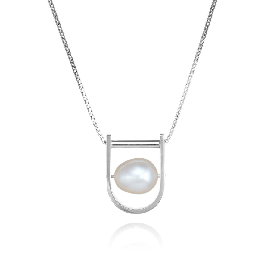 U: Contemporary Large White Pearl Necklace