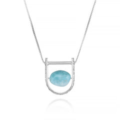 U: Larimar Necklace Foliage Frame