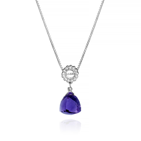 Purple Amethyst Designer Necklace Sterling Silver