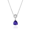 Purple Amethyst Designer Necklace Sterling Silver February Birthstone