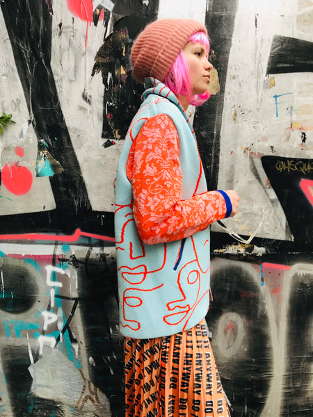 Patchwork Short Coat