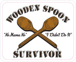 Wooden Spoon Survivor Sticker