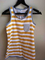 Wide stripe vest