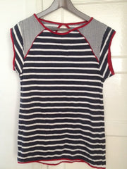 Short sleeve stripe tops