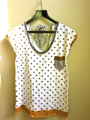 Low neck line dotty tops : Sale£10! (was£20)