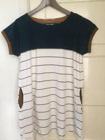 Top coloured with stripe dress