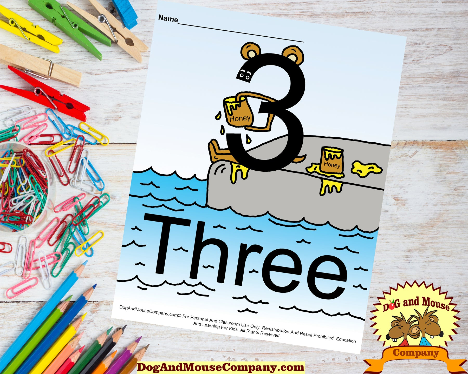 Learn The Number Two Coloring Pages Preschool Worksheets by Dog And Mouse Company