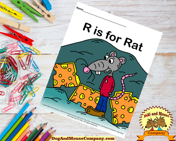 R Is For Rat Colored Printable Worksheet