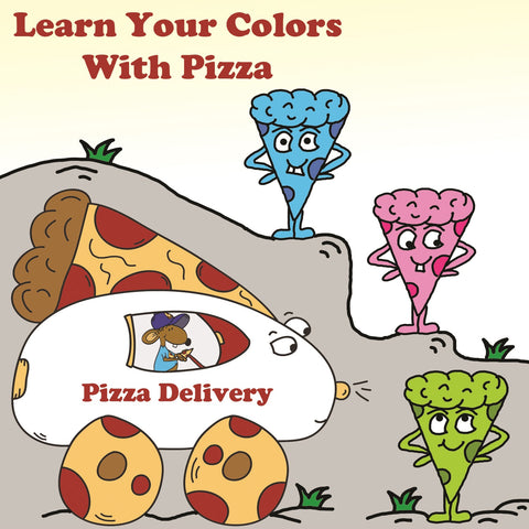 Learn Your Colors With Pizza And Stincel The Mouse Preschool Worksheets by DogAndMouseCompany.com