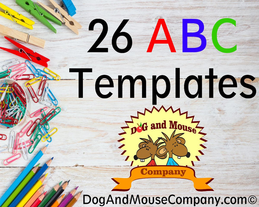 26 Learn Your ABC's Worksheet A To Z | Printable Alphabet Letters Digital Download by Dog And Mouse Company | dogandmousecompany.com