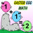 Happy Face Easter Egg Addition Math Worksheets For Kindergarten by dogandmousecompany.com