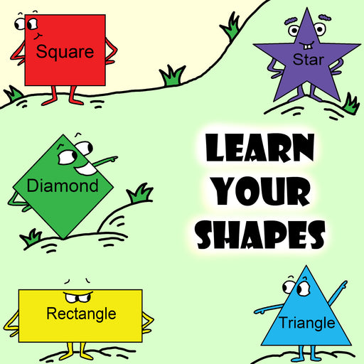 Learn Your Shapes Preschool Worksheet by DogAndMouseCompany.com