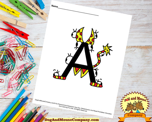 52 Worksheet Bundle | Learn Your ABC's With Silly Monsters | Alphabet A To Z