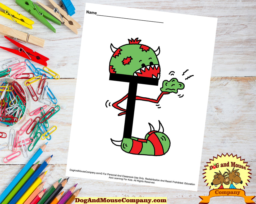 52 Learn Your ABC's With Silly Monsters | Alphabet A To Z  by DogAndMouseCompany.com