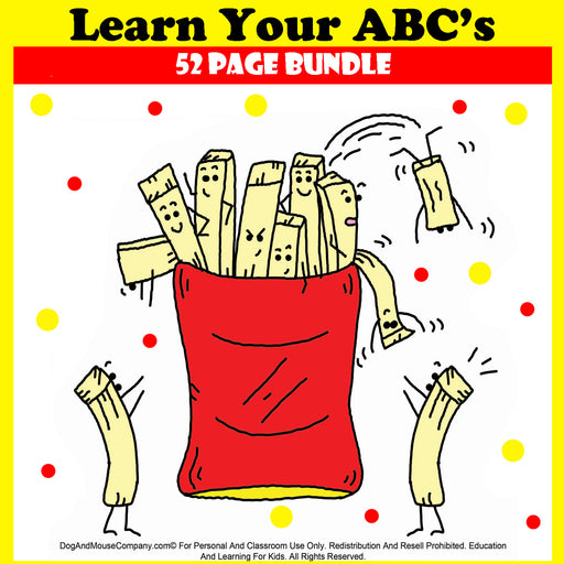 Learn Your ABC's Printable Worksheets by Dog And Mouse Company | dogandmousecompany.com