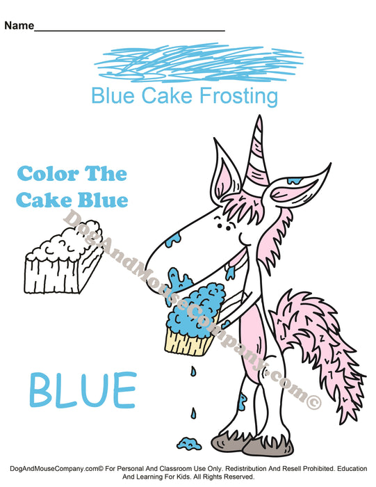Learn Your Cake Frosting Colors With Mr. Unicorn | Preschool Worksheets