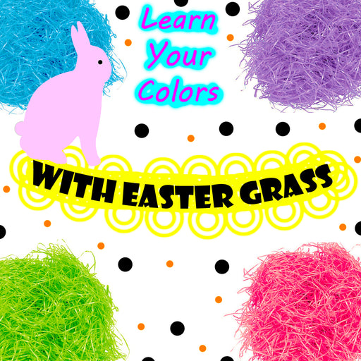Learn Your Colors With Easter Grass Preschool Worksheets dogandmousecompany.com