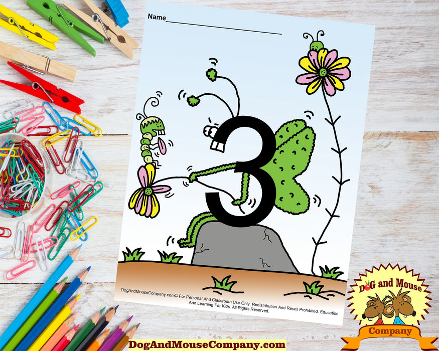Learn Your Numbers With Butterflies 1 To 10 Preschool Worksheet Bundle