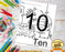 Learn The Number Ten Coloring Page by Dog And Mouse Company