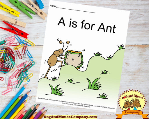 "Learn Your ABC""s Worksheet Printable Bundle DogandMouseCompany.com 
