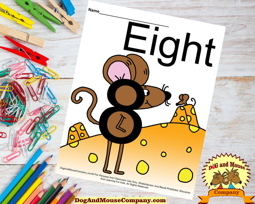 Learn Your Numbers With Mice 1 to 10 | 20 Worksheet Bundle