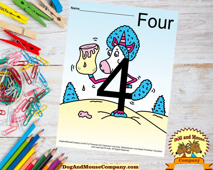 Learn Your Numbers With Unicorns 1 To 10 Preschool Worksheets Bundle by Dog And Mouse Company | dogandmousecompany.com