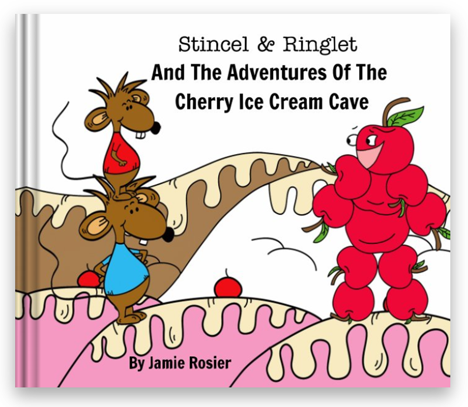 Stincel & Ringlet And The Adventures Of The Cherry Ice Cream Cave Children Book Ebook PDF Download Digital Download Kids Books Mice Mouse Cherry Man | dogandmousecompany.com | Stencil