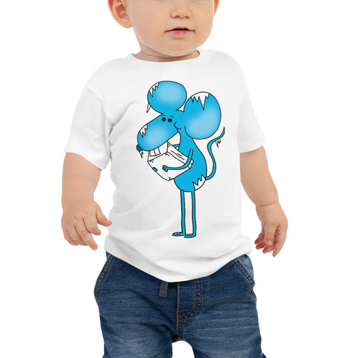 Freezer Burn Blue Mouse Drip Drop | Baby Jersey Short Sleeve T Shirt | Sizes 6-24 Months